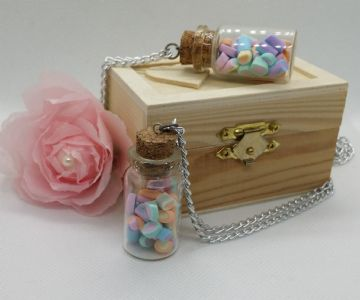 Miniature Marshmallow Jar Pendant
